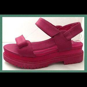 Jeffrey Campbell Mayview Flatform Shoes Hot Pink